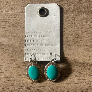 Anthropologie turquoise drop earrings
